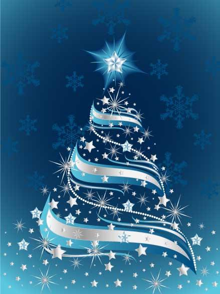 Rbol de navidad en fondo azul en vectores - Arboles de navidad imagenes ...