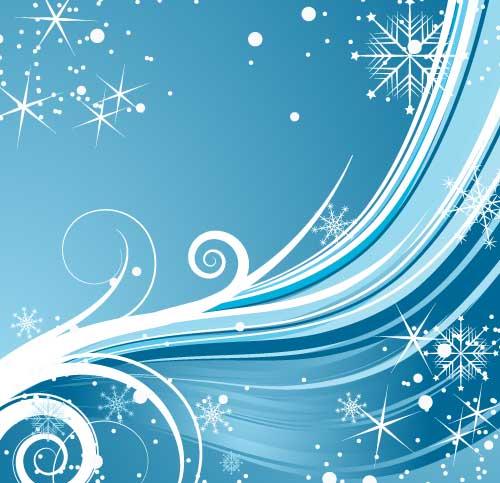 Fondo azul navideño en vectores -