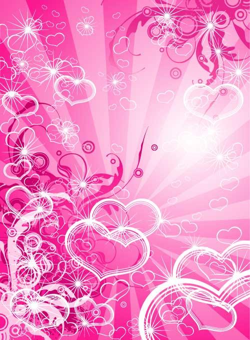Fondo abstracto con corazones - Corazon de fotos en pared ...