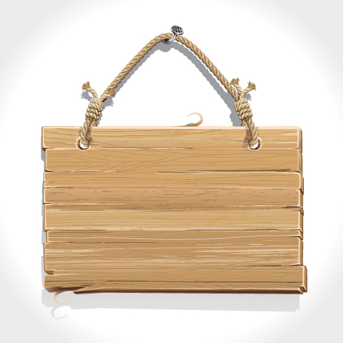 Letrero de madera con cuerda en vectores - Letreros en madera ...